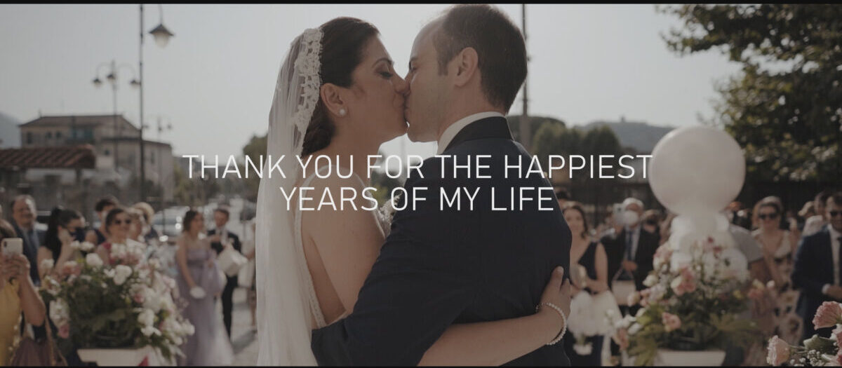 THANK YOU FOR THE HAPPIEST YEARS OF MY LIFE
